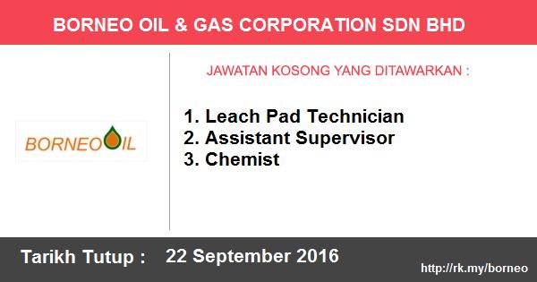 Jawatan Kosong di Borneo Oil & Gas Corporation Sdn Bhd
