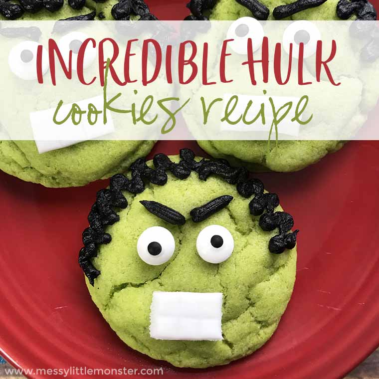 Looking for superhero birthday party ideas? Hulk cookies make fun superhero party favors. Superhero cookies are easy to make and a fun superhero acvtivity for kids.