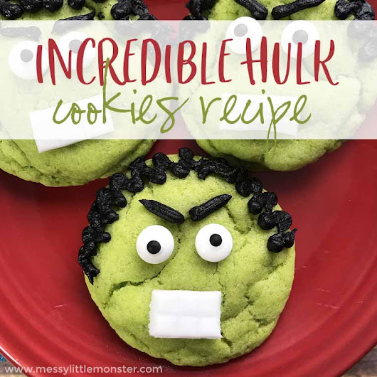 The Incredible Hulk Superhero Cookies Recipe