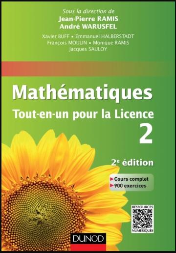 Livre : Mathématiques Tout-en-un pour la Licence 2 - Cours complet, exemples et exercices corrigés
