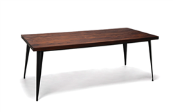 Elm Wood Conference Table with Metal Legs