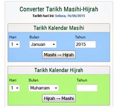 tukar tarikh lahir Masihi ke Hijrah