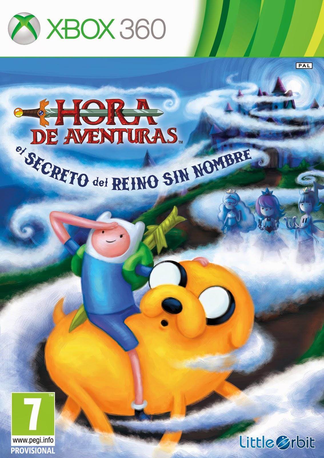 Hora De Aventuras El Secreto Del Reino Sin Nombre XBOX 360 Cover Caratula