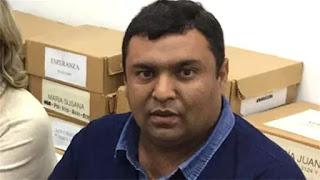 Se trata de Fernando Vera, candidato a jefe comunal de la localidad de Esteban Rams. Fue acusado de robar ganado
