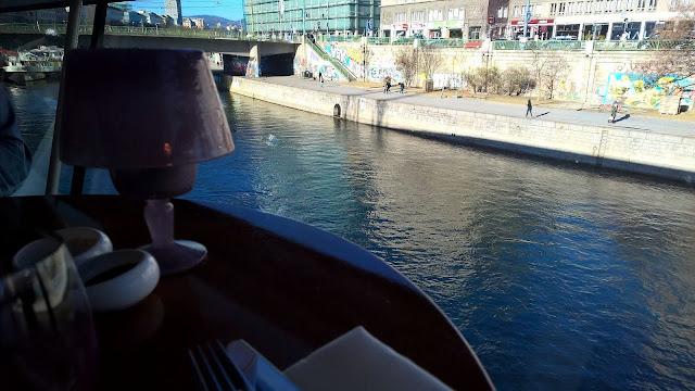 Mallaspulla matkailee Wien Itävalta ravintola Motto am Fluss