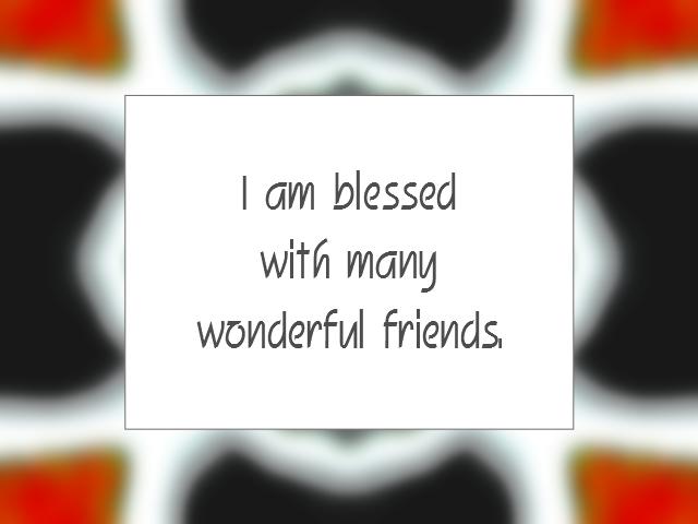 FRIENDSHIP affirmation