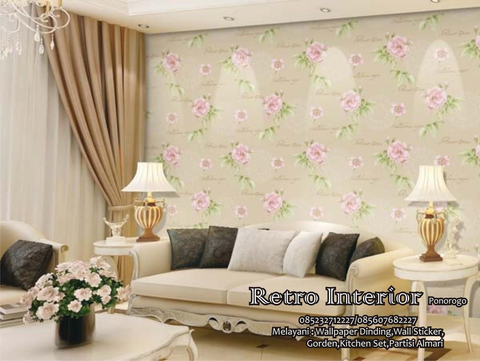 TOKO WALLPAPER DINDING MADIUN 085232712227  085607682227  Ruang Tamu Minimalis Wallpaper Dinding