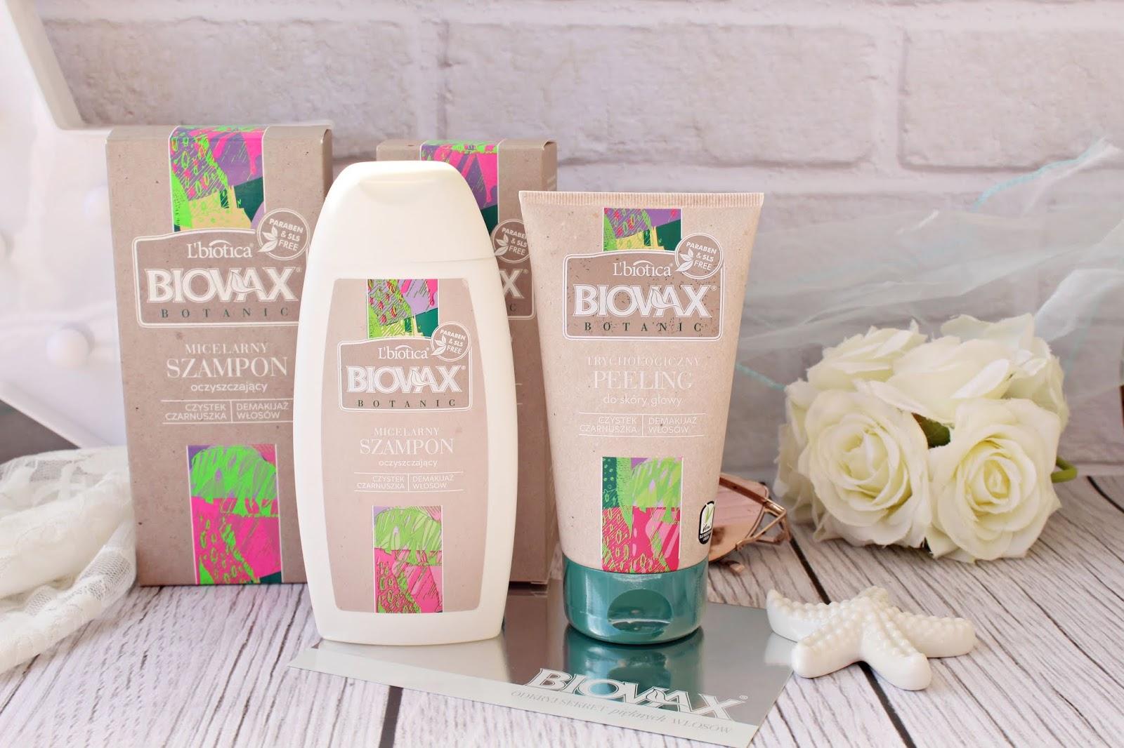 L'biotica BIOVAX Botanic Trychologiczny peeling do skóry głowy & Micelarny szampon oczyszczający