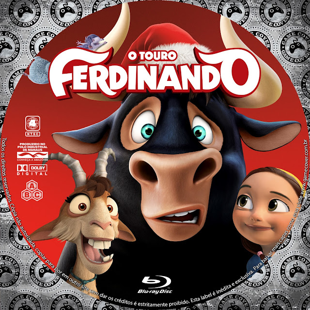 Label Bluray O Touro Ferdinando [Exclusiva]