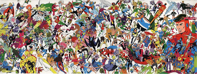 1983 Legion of Super-Heroes poster by Keith Giffen. Property of DC Comics.