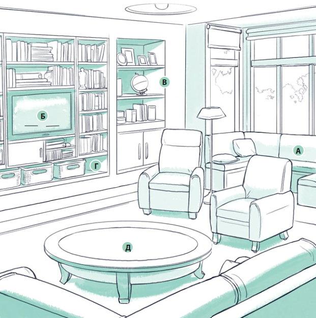 Дизайн и зонирование гостиной Волгоград