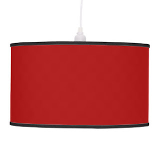 Red pendant lamp