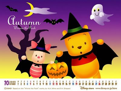 Cute Pooh Bear Wallpapers Free Desktop Wallpaper Disney Halloween Wallpaper
