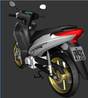 GTA SA - HONDA BIZ 100 WHITE AND GOLD