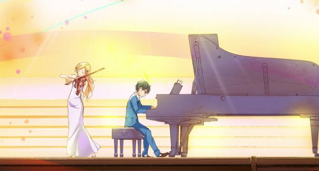 3 Anime Terbaik Berkisah Romantis - Shigatsu wa Kimi no Uso