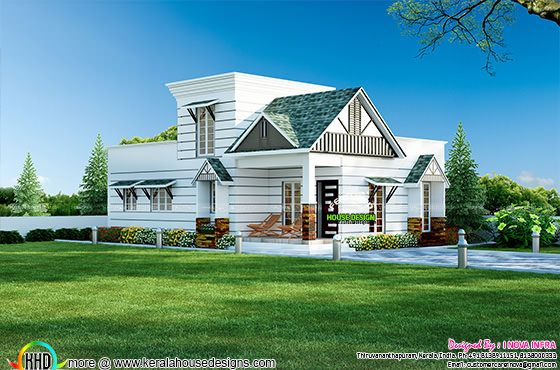 Small colonial style house architecture