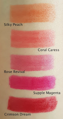 Avon True Colour Supreme Nourishing Lipstick swatches
