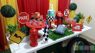 Decoração festa infantil Carros Disney Porto Alegre
