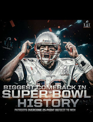 #nfl #patriots #tombrady - #biggest comeback in super bowl history. patriots overcome 25-point deficit to win
