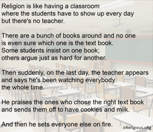 Funny religion is like a classroom meme joke picture