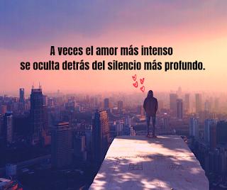 A veces el amor más intenso se oculta detrás del silencio más profundo.