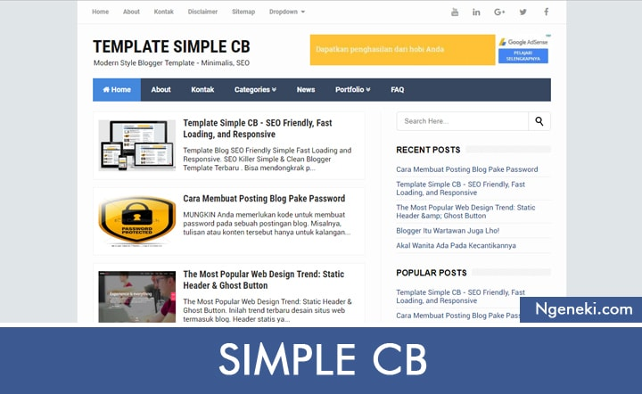 Template Blogger Simple CB
