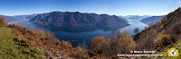 Panoramica lago Maggiore salendo al Pizzo Leone