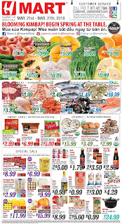 H Mart Weekly Ad March 23 - 29, 2018