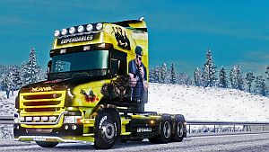 The Expendables paint job for Scania T