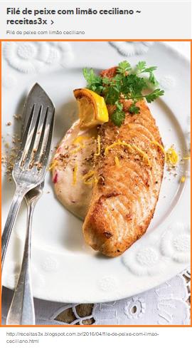 Filé de peixe com limão ceciliano