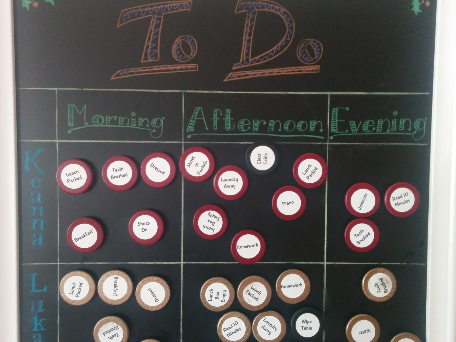 Sweep Dining Room Chore Chart