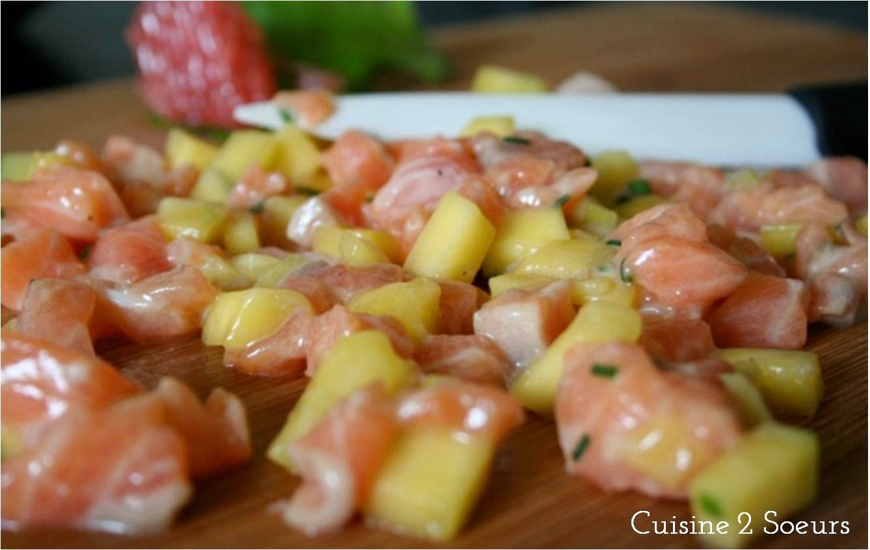 Cuisine 2 Soeurs: Tartare de saumon à la mangue