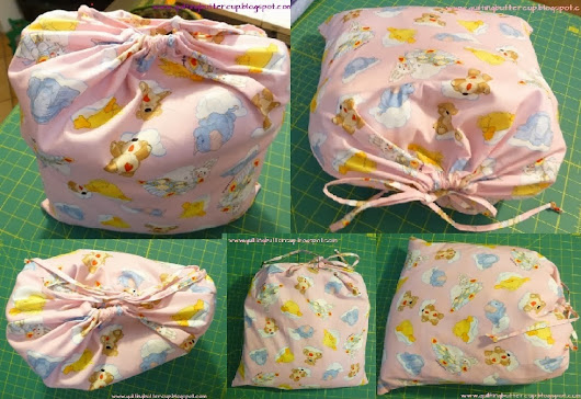 How to make drawstring giftbags