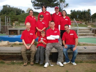 Photo of the Midlands Minigolf Club at the 2009 BMGA British Club Championships at Sandbanks Crazy Golf course in Dorset