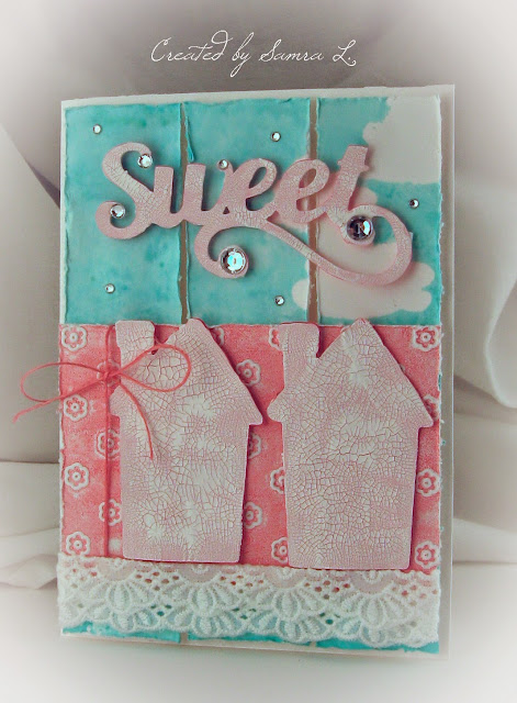 Paper Talk With Samra Home Sweet Home Mixed Media Card