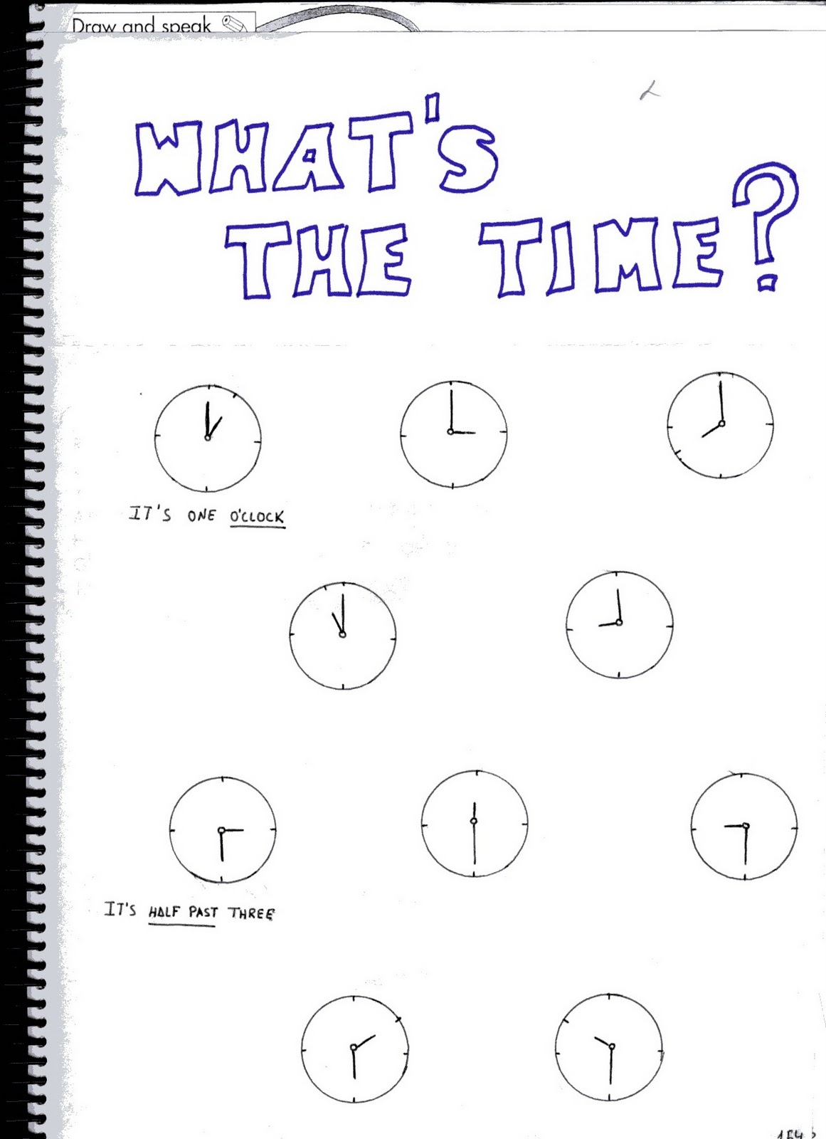 Fichas De Ingles Ficha Time 2 Time Worksheets