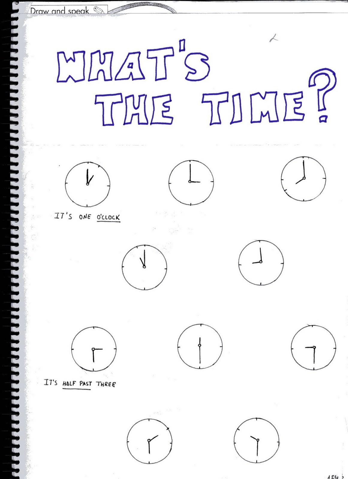 Fichas De Ingles Ficha Time 2 Time Worksheets