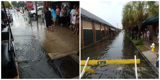 Flooded streets of Charleston