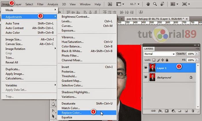 Mengganti Background Pas Foto di Photoshop - Kelas Desain
