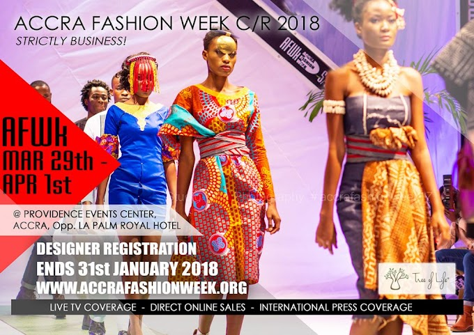 Accra Fashion Week CR18 Scheduled For March 29th – April 1st