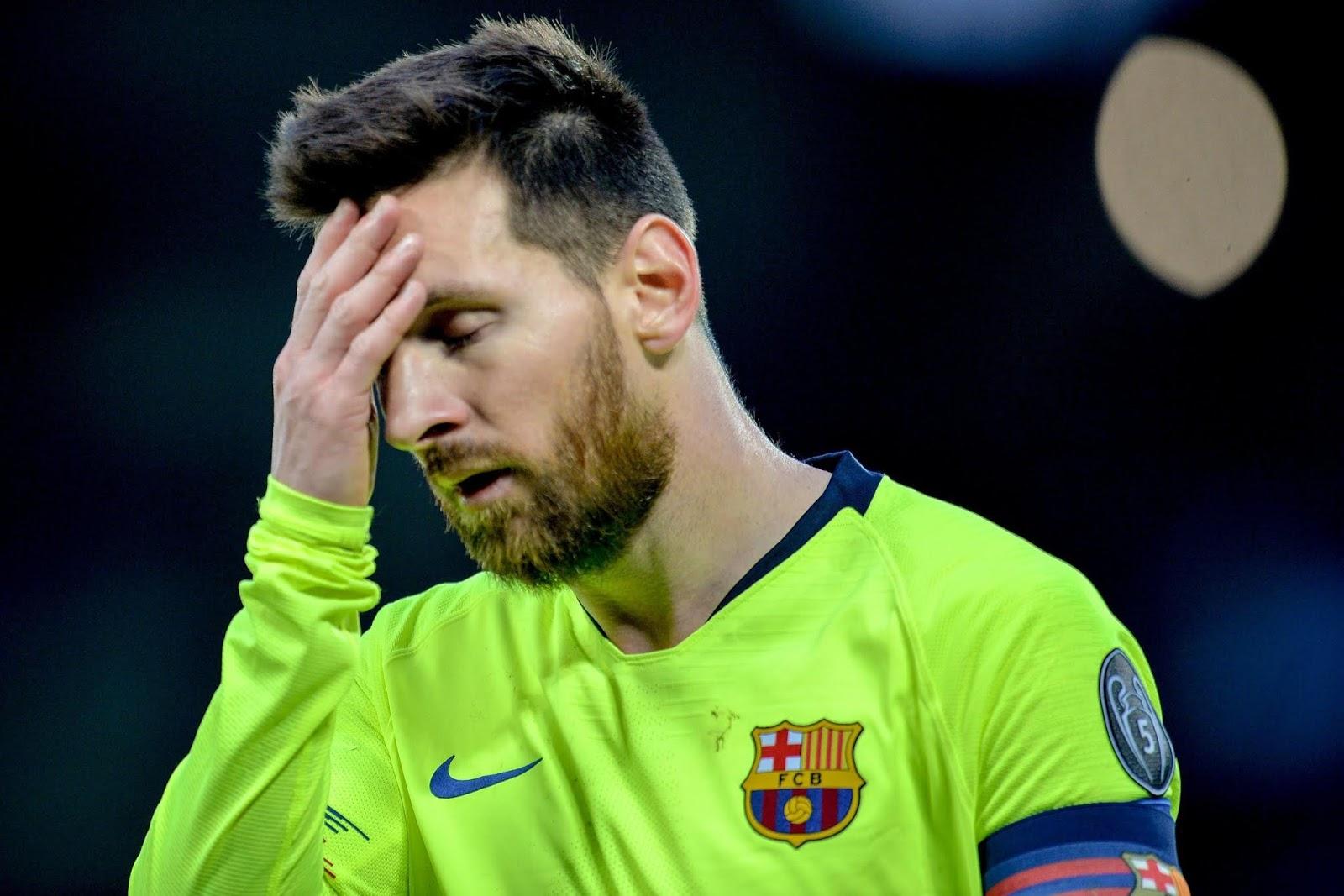 Messi ya fashe da kuka sakamakon duka da Barcelona ta sha a