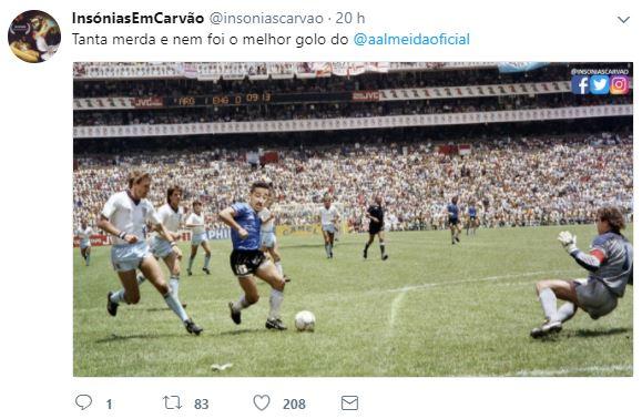André Almeida e Diego Maradona