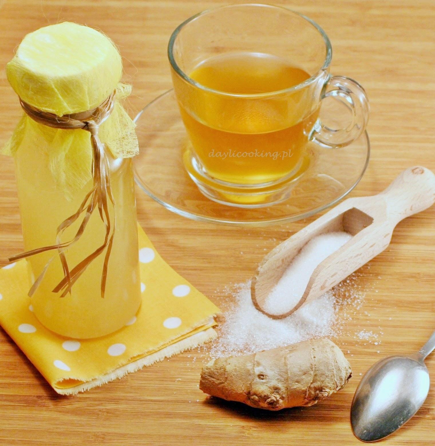 imbirowy syrop do herbaty, jak zrobić syrop z imbiru