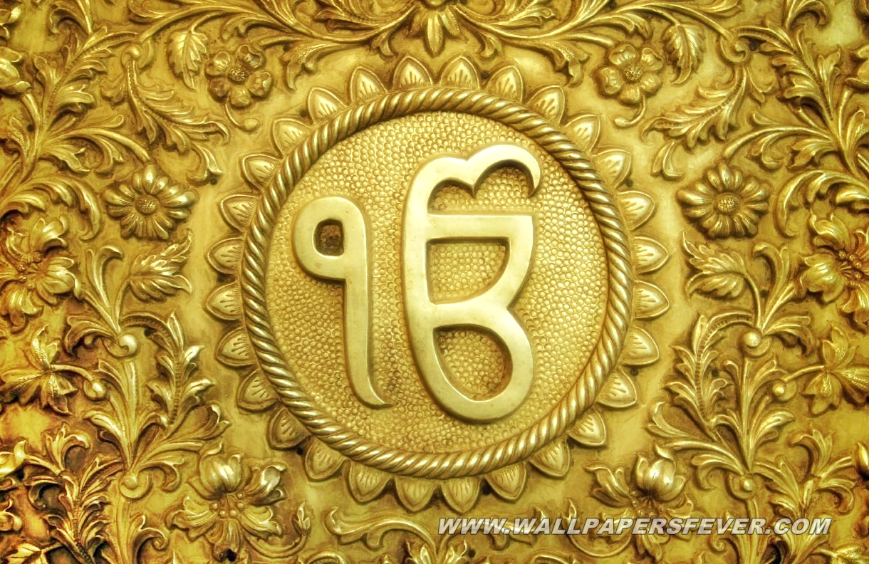 Sikh Wallpapers Hd For Iphone 5 Ihot Wallons Gold Ik Onkar Hd Wallpaper Wallpapers