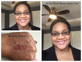 Almary Smart Shade Butter Kiss 90 Berry Medium on dark skin