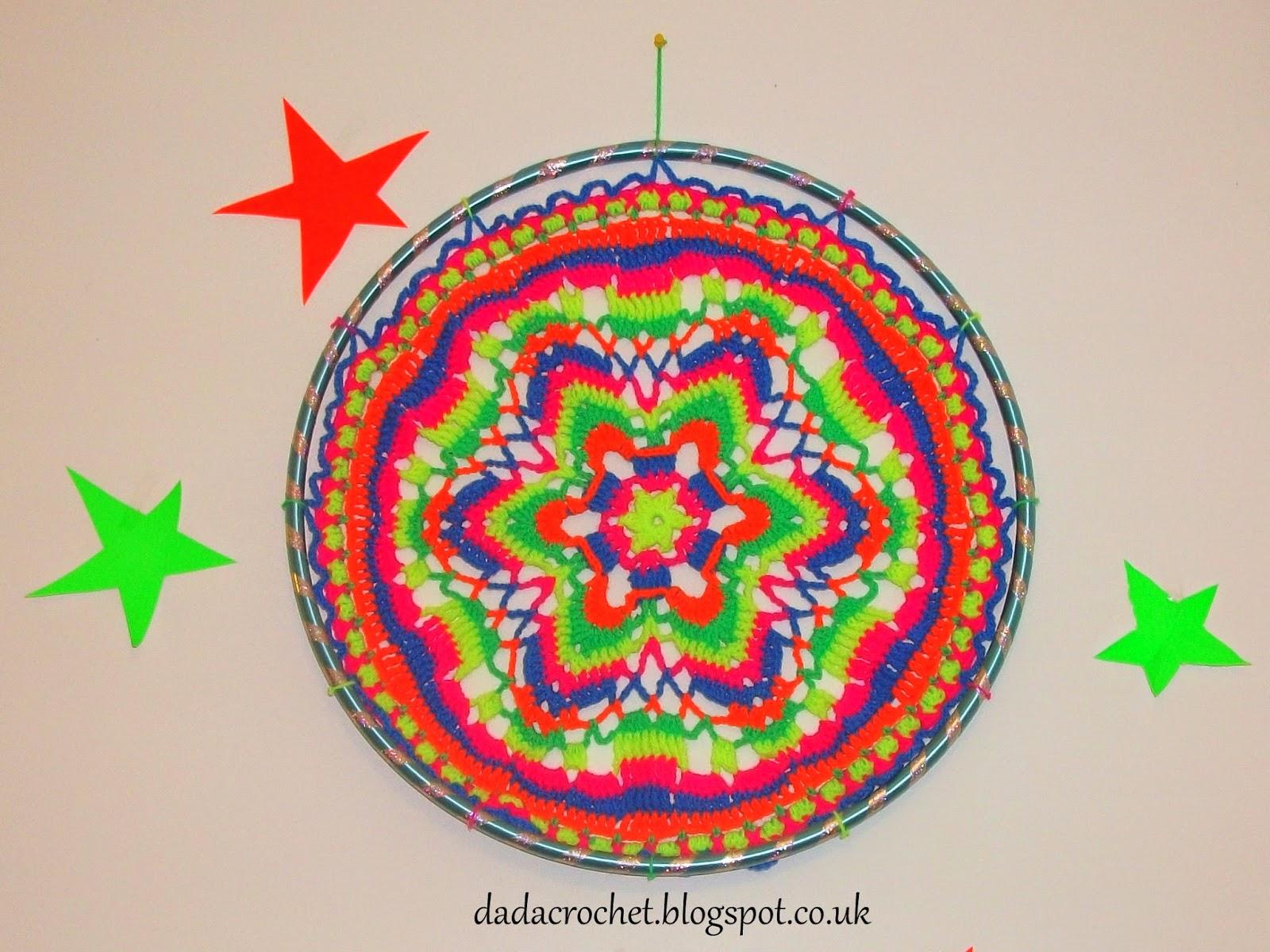 Dada Neon Crochet Create Your Own Wall Hanging Mandala