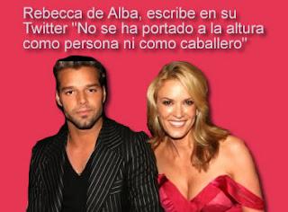 Rebeca de Alba se enojo con Ricky Martin