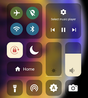 iPhone control center on Android