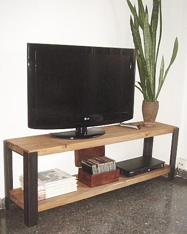 Naturalis muebles mueble tv industrial for Mueble tv industrial