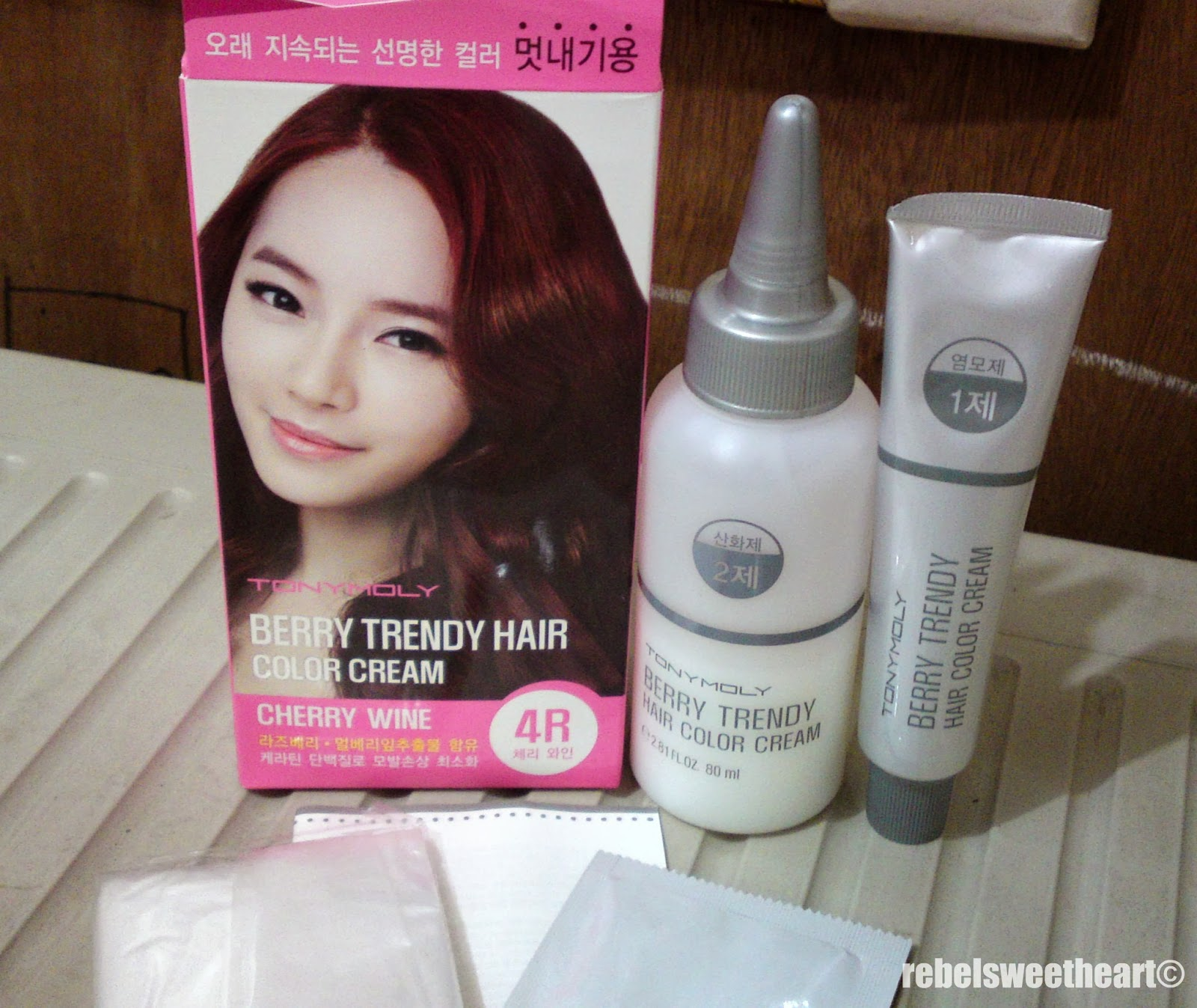 The Rebel Sweetheart Hair Story Tony Moly Berry Trendy Hair